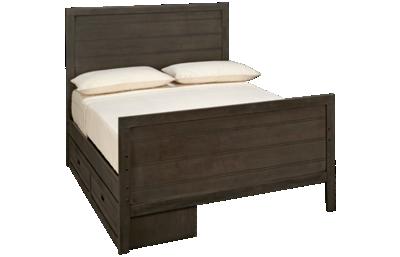 Oak Furniture West Owen Full Panel Bed with 2 Drawer Storage