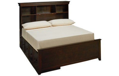 Maxwood Furniture Boston Full Bookcase Bed with 2