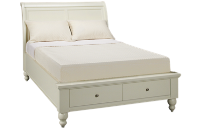 Aspen Cambridge Full Sleigh Platform Bed with Underbed Storage