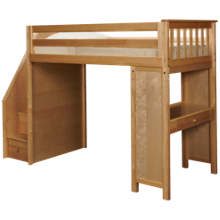 Maxwood Furniture Chester Loft Bed with Desk