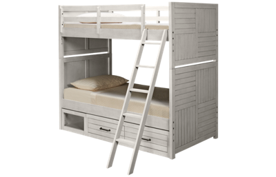 Legacy Classic Summer Camp Twin over Twin Bunk Bed with Storage