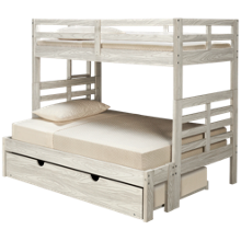 Innovations Nate Twin over Full Bunk Bed with Ladder and Underbed Trundle
