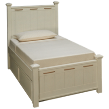 Legacy Classic Lake House Twin Low Post Bed with Trundle