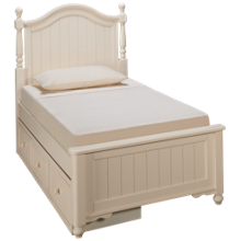 Legacy Classic Summerset Twin Low Poster Storage Bed