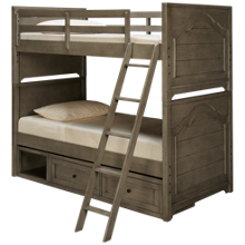 Legacy Classic Farm House Twin over Twin Bunk Bed with Underbed Storage