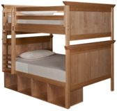 Maxwood Furniture Boston Full Over Full Bunk Bed with Cubbies