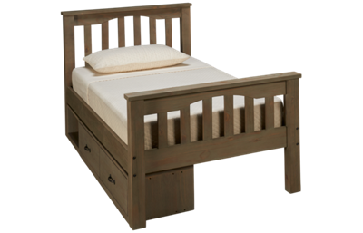 NE Kids Highlands Twin Harper Bed with Storage