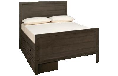 Oak Furniture West  Owen Full Panel Bed with 4 Drawer Storage