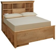 Maxwood Furniture Boston Full Bookcase Bed with 2 Cubbies