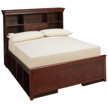 Maxwood Furniture Boston Full Bookcase Bed with 4 Cubbies