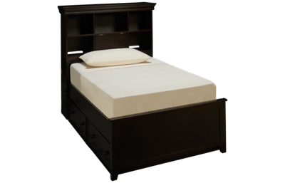 Maxwood Furniture Boston Twin Bookcase Bed with Trundle