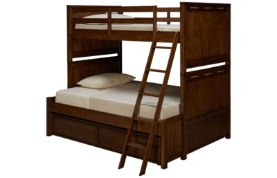 Legacy Classic Lake House Twin Over Full Bunk Bed with Trundle