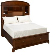 Legacy Classic Impressions Full Bookcase Bed with Underbed Storage