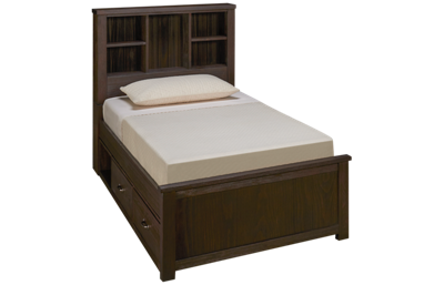 NE Kids Highlands Twin Bookcase Bed with Storage