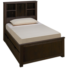 NE Kids Highlands Twin Bookcase Bed with Trundle