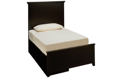 Maxwood Furniture Boston Twin Plank Bed with 2