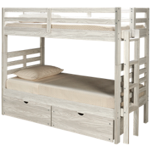 Flotation Innovations Nate Twin Over Twin Bunk Bed with Ladder and Underbed Storage Chest