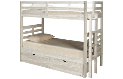 Innovations Nate Twin over Twin Bunk Bed with Ladder and Underbed Storage
