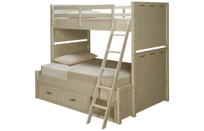 Legacy Classic Lake House Twin Over Full Bunk Bed with Storage