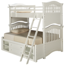 Universal Classics 4.0 Twin Over Full Bunk Bed with Storage Unit