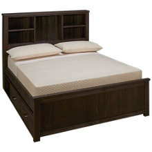 NE Kids Highlands Full Bookcase Bed with Storage