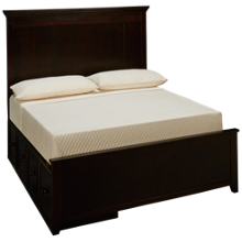 Maxwood Furniture Boston Full Plank Bed with 2 Storage Drawers