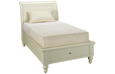 Aspen Cambridge Twin Sleigh Platform Storage Bed