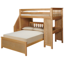 Maxwood Furniture Chester Twin Over Full Loft Bed with Desk