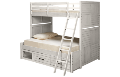 Legacy Classic Summer Camp Twin over Full Bunk Bed with Storage