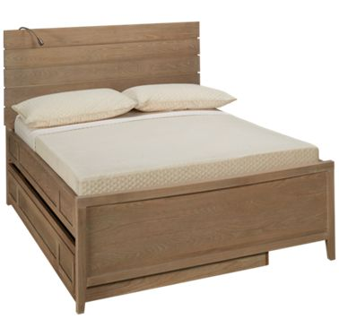 Universal Myroom Full Panel Reading Bed With Trundle