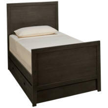 Oak Furniture West Owen Twin Panel Bed with Trundle