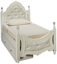 Ashley Exquisite Twin Padded Storage Poster Bed
