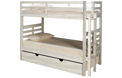 Innovations Nate Twin Over Twin Bunk Bed with Ladder and Underbed Trundle