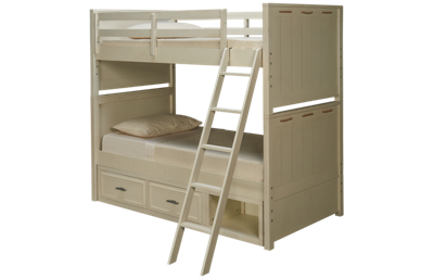 Legacy Classic Lake House Twin Over Twin Bunk Bed with Storage
