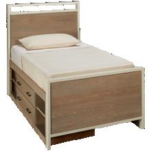 Universal #myRoom Twin Panel Bed with Storage