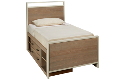 Universal #myRoom Twin Panel Bed with Storage