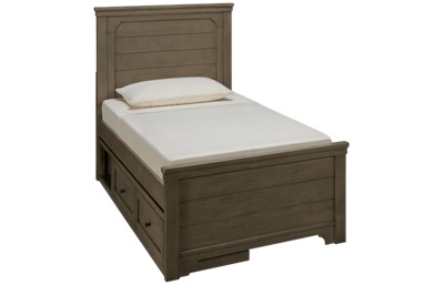 Legacy Classic Farm House Twin Mansion Bed with Underbed Storage