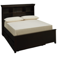 Maxwood Furniture Boston Full Bookcase Bed with Trundle