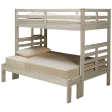 Flotation Innovations Nate Twin over Full Bunk Bed with Ladder