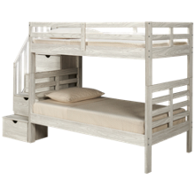 Flotation Innovations Nate Twin over Twin Bunk Bed with Storage Stairs
