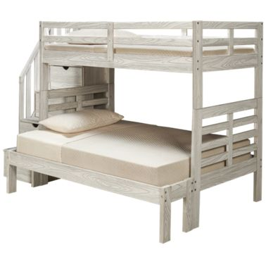 Innovations Nate Innovations Nate Twin Over Full Bunk Bed With Storage Stairs Jordan S Furniture