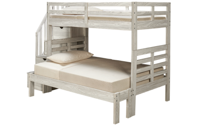 Innovations Nate Twin over Full Bunk Bed with Storage Stairs