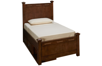 Legacy Classic Lake House Twin Low Post Bed with Storage
