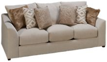 United Luxe Tan Sofa