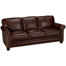 Futura Cordovan Leather Sofa