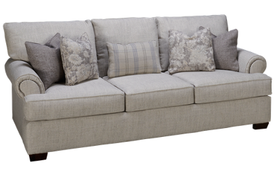Klaussner Home Furnishings Ginger Sofa with Nailhead