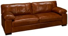 "Soft Line Dallas 97"" Leather Sofa"