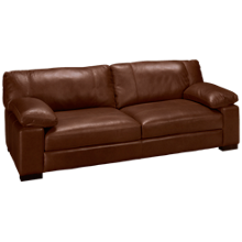 "Soft Line Dallas Leather 97"" Sofa"