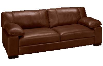 """Soft Line Dallas Leather 97"""" Sofa"""