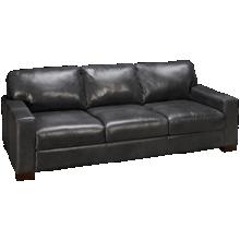Soft Line Pista Grey Leather Sofa